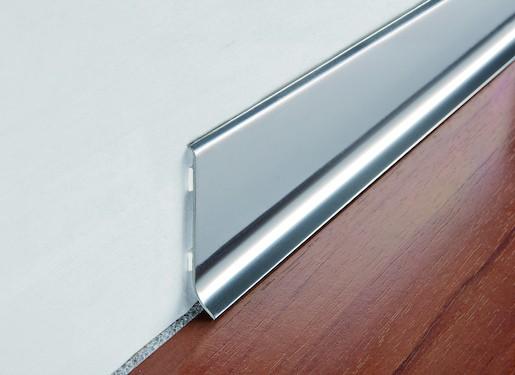 Sokel nerez leštená silver, dĺžka 200 cm, výška 60 mm, BTAC60