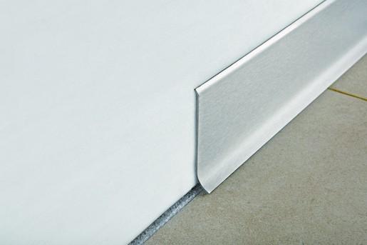 Sokel nerez mat silver, dĺžka 200 cm, výška 60 mm, BTACS60