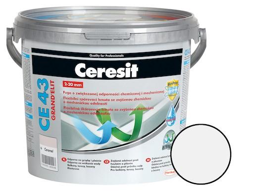 Škárovacia hmota Ceresit CE 43 biela 5 kg CG2WA CE43501