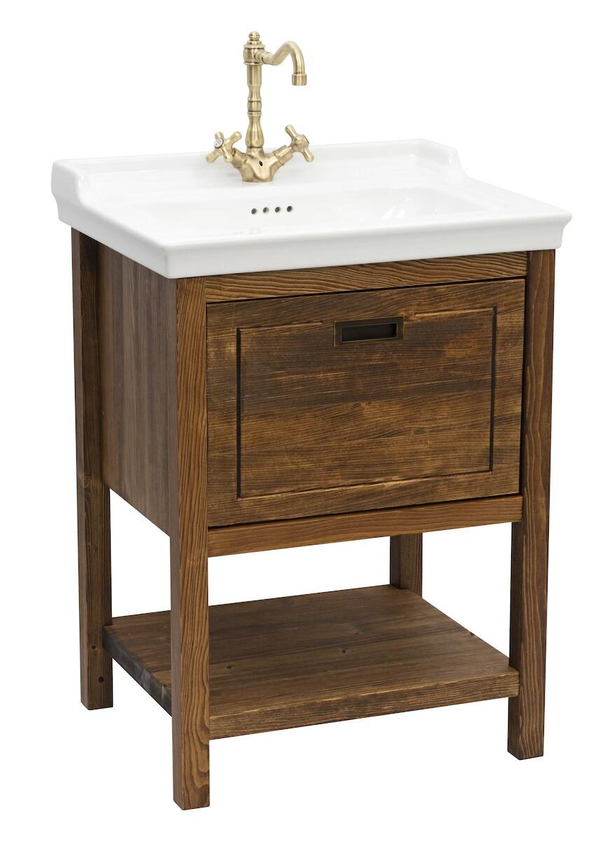 Kúpeľňová skrinka s umývadlom Naturel Country 65x85x53 cm palisander COUNTRY65ZPA