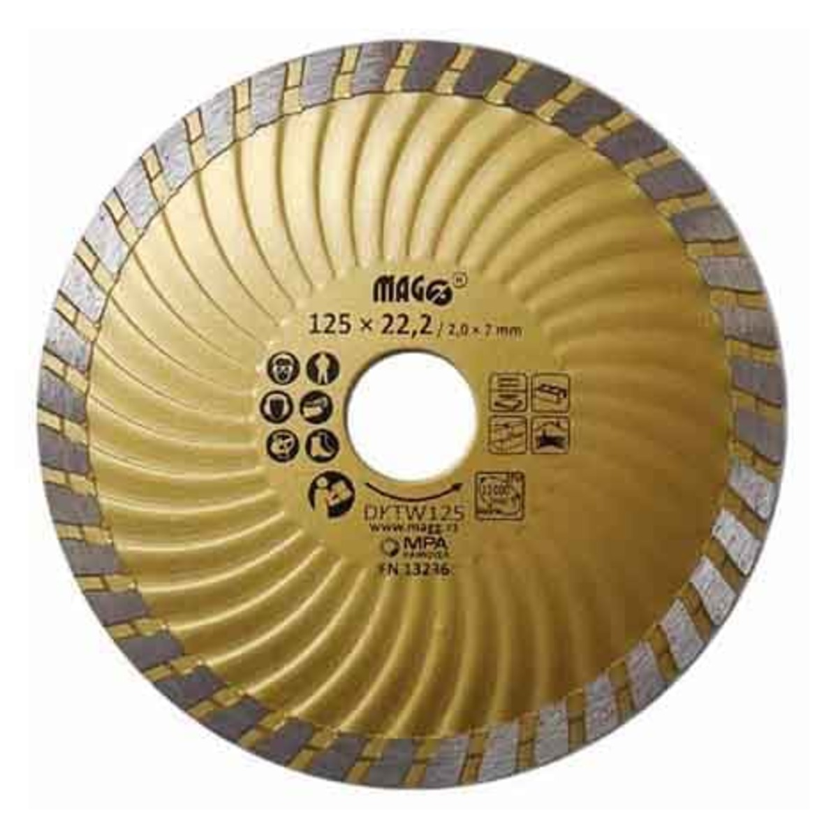 Diamantový Kotúč segmentový 125 mm PHT DKTW125