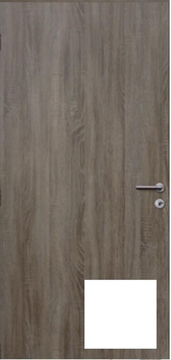 Protipožiarne dvere Naturel Technické pravé 80 cm biele DPOB80P