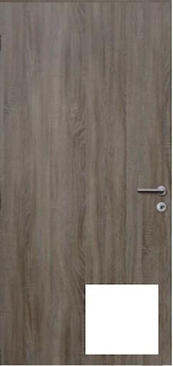 Protipožární dveře Naturel Technické pravé 90 cm biele DPOB90P