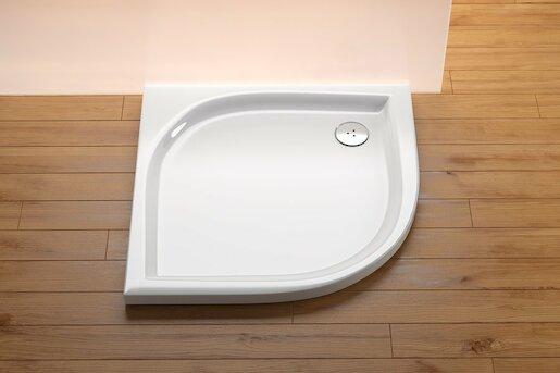 Sprchová vanička štvrťkruhová Ravak Elipso 100x100 cm akrylát A22AA01210