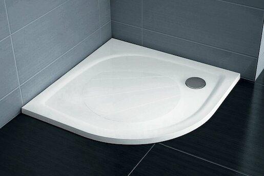 Sprchová vanička štvrťkruhová Ravak Elipso 90x90 cm liaty mramor XA237701010