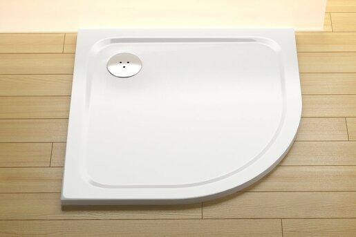 Sprchová vanička štvrťkruhová Ravak Chrome 90x90 cm liaty mramor XA247701010