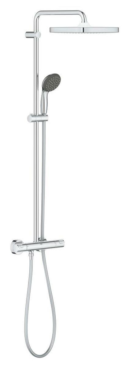 Sprchový systém Grohe Vitalio Start na stenu s termostatickou batériou chróm 26696000