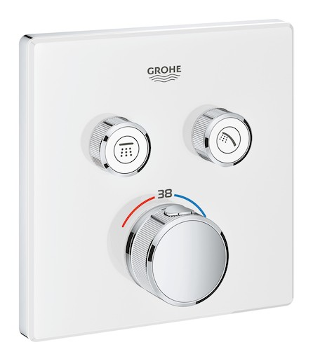 Termostat Grohe Smart Control s termostatickou baterií Moon White, Yang White 29156LS0