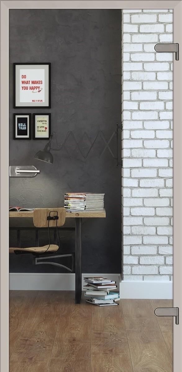 Sklenené dvere Naturel Glasa pravé 80 cm číre GLASA1C80P