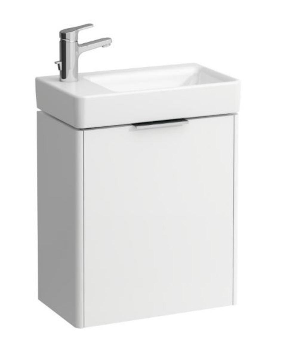 Kúpeľňová skrinka pod umývadlo Laufen Base 47x26,5x51 cm biela H4021011102611