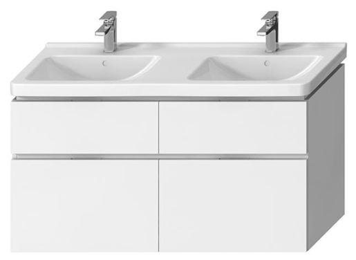 Kúpeľňová skrinka pod umývadlo Jika Cubito 128x46,7 cm biela H40J4274025001