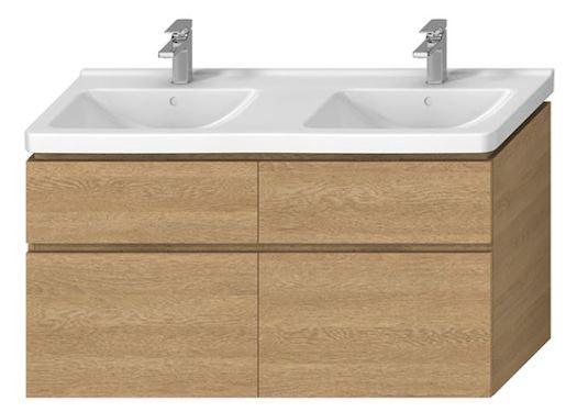 Kúpeľňová skrinka pod umývadlo Jika Cubito 128x46,7 cm dub H40J4274025191