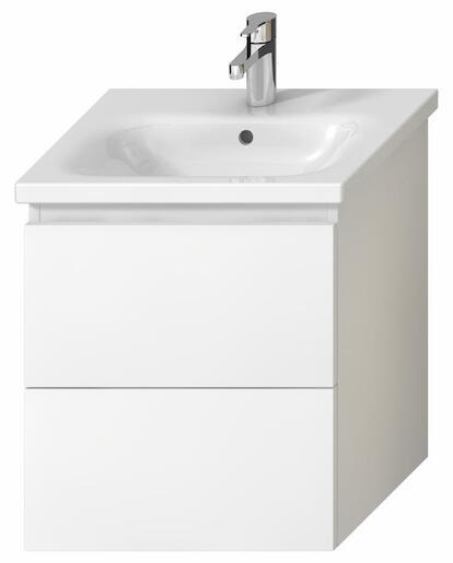 Kúpeľňová skrinka pod umývadlo Jika Mio-N 51,4x44,5x59 cm biela H40J7134015001