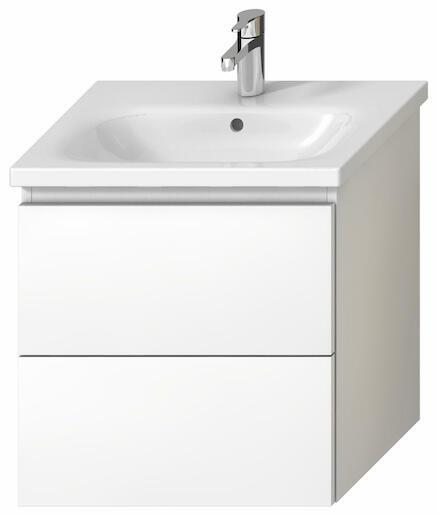 Kúpeľňová skrinka pod umývadlo Jika Mio-N 57x44,5x58,8 cm biela H40J7144015001