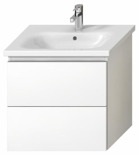 Kúpeľňová skrinka pod umývadlo Jika Mio-N 61x44,5x59 cm biela H40J7154015001