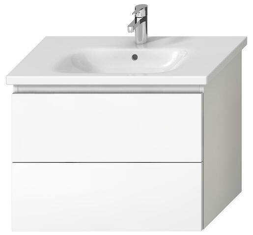 Kúpeľňová skrinka pod umývadlo Jika Mio-N 75x44,5x59 cm biela H40J7164015001