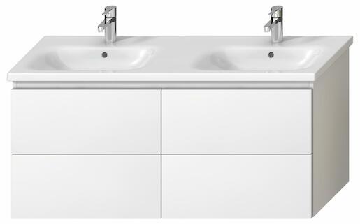 Kúpeľňová skrinka pod umývadlo Jika Mio-N 126x44,5x59 cm biela H40J7184015001