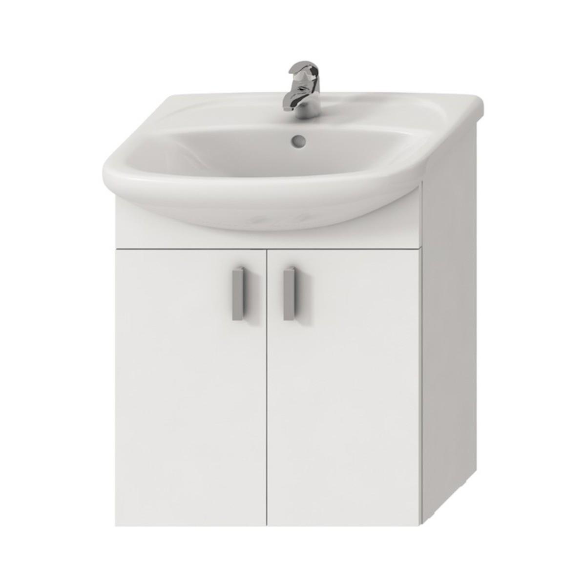 Kúpeľňová skrinka pod umývadlo Jika Lyra plus 64x31x70 cm biela H4519624323001