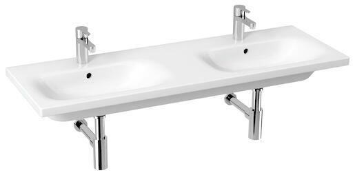 Umývadlo Jika Mio-N 130x45 cm dva otvory pre batériu H8147140001041