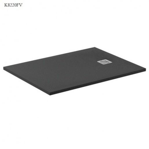 Sprchová vanička obdĺžniková Ideal Standard Ultraflat S 100x90 cm liaty mramor čierna K8220FV