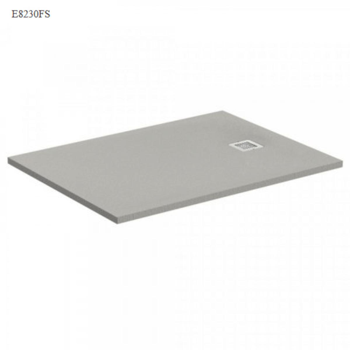 Sprchová vanička obdĺžniková Ideal Standard Ultraflat S 120x90 cm liaty mramor šedá K8230FS