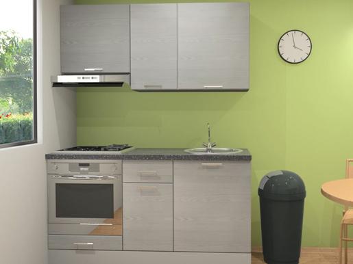 Kuchynská linka Naturel Gia 160 cm borovica biela mat KUCHSETG11