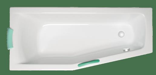 Asymetrická vaňa Laguna Aneta 160x70 cm akrylát LAN1600LHMAM