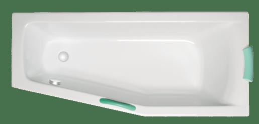 Asymetrická vaňa Laguna Aneta 160x70 cm akrylát LAN1600PHMAM