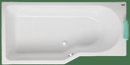Asymetrická vaňa Laguna Beáta 160x80 cm akrylát LBE1600LHMAM