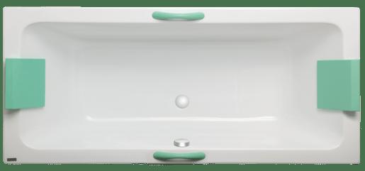Masážna vaňa Laguna Nora 160x75 cm akrylát LNO1600HMAM