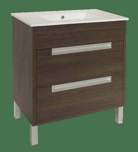 Kúpeľňová skrinka s umývadlom Naturel Modena 60x46 cm dub šedý MODENA60DV