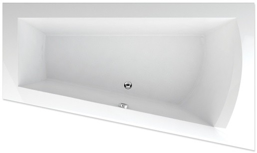 Rohová vaňa Teiko Nera 160x100 cm akrylát pravá V110160R04T07001