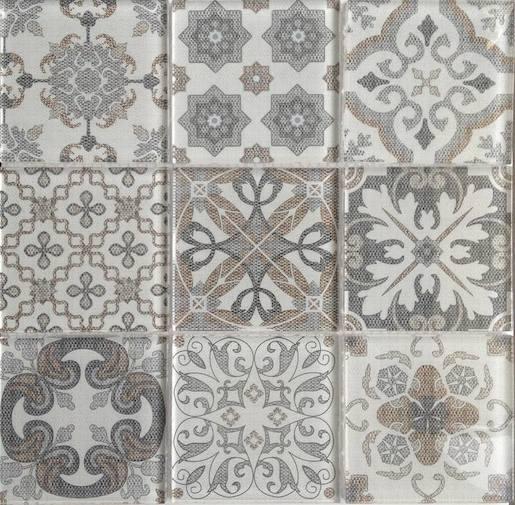 Dekor Premium Mosaic Skleněné obklady mix farieb 30x30 cm, lesk PATCHWORK200