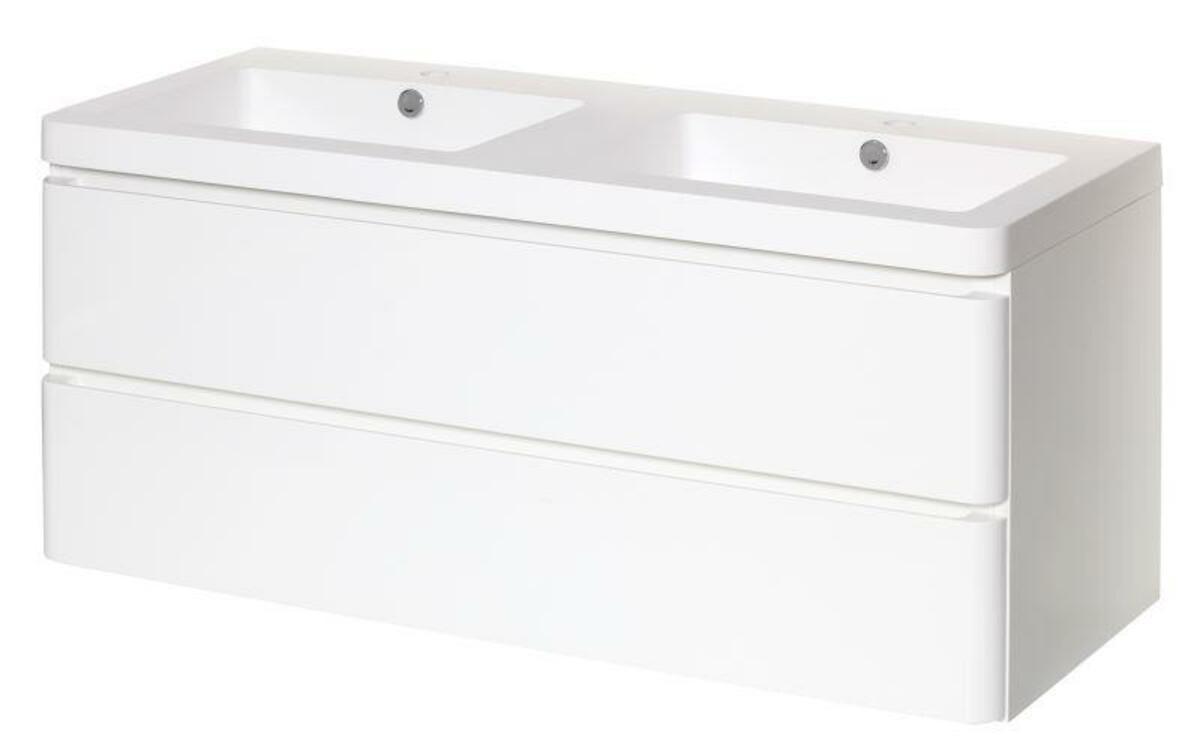 Kúpeľňová skrinka s umývadlom Naturel Pavia Way 120x48,5 cm biela PAVIA2120Z