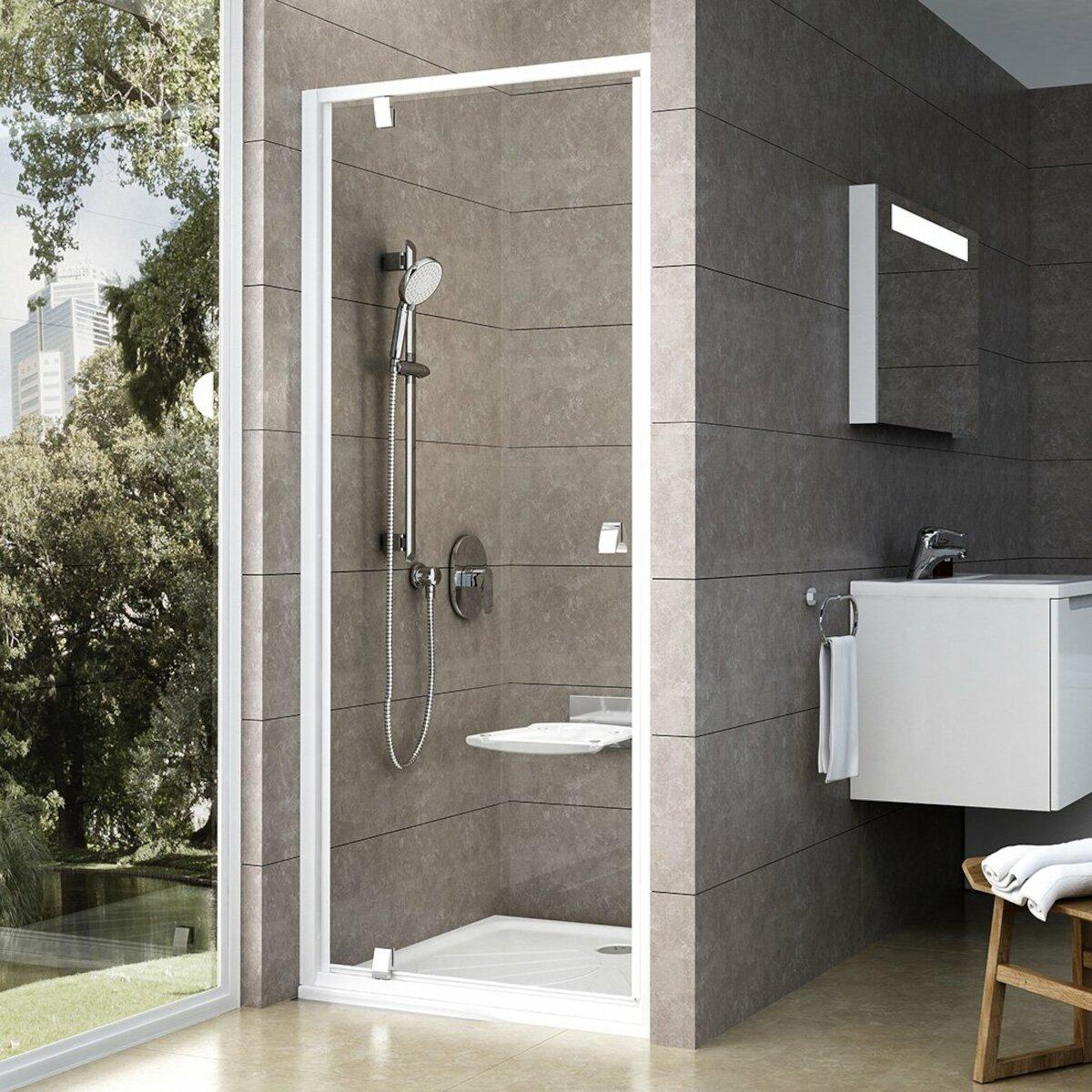 Sprchové dvere 80x190 cm Ravak Pivot biela 03G40100Z1
