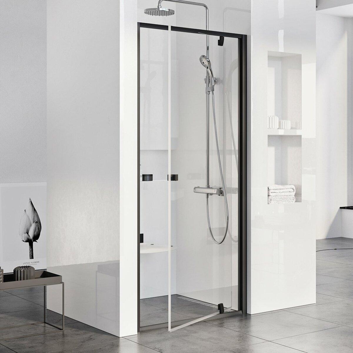 Sprchové dvere 80x190 cm Ravak Pivot čierna 03G40300Z1