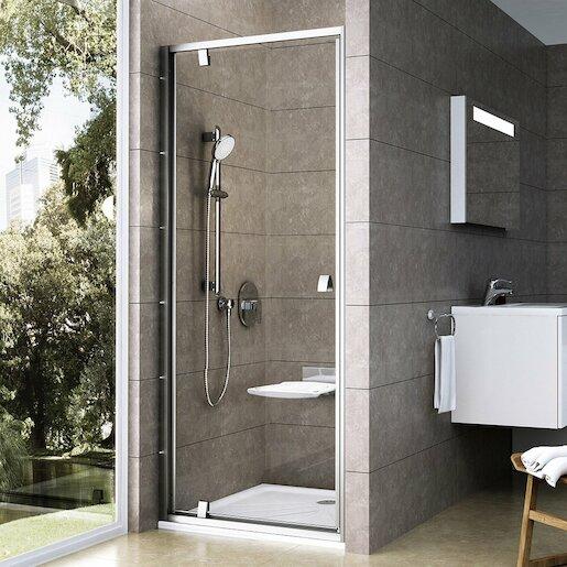 Sprchové dvere 80x190 cm Ravak Pivot chróm matný 03G40U00Z1