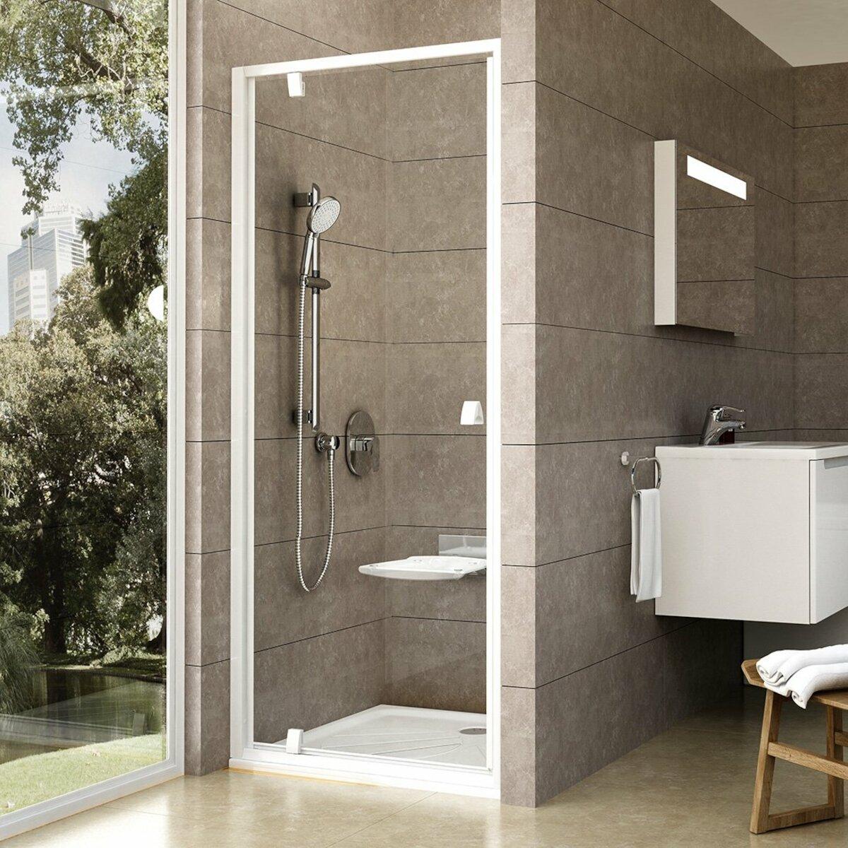 Sprchové dvere 90x190 cm Ravak Pivot biela 03G70101Z1