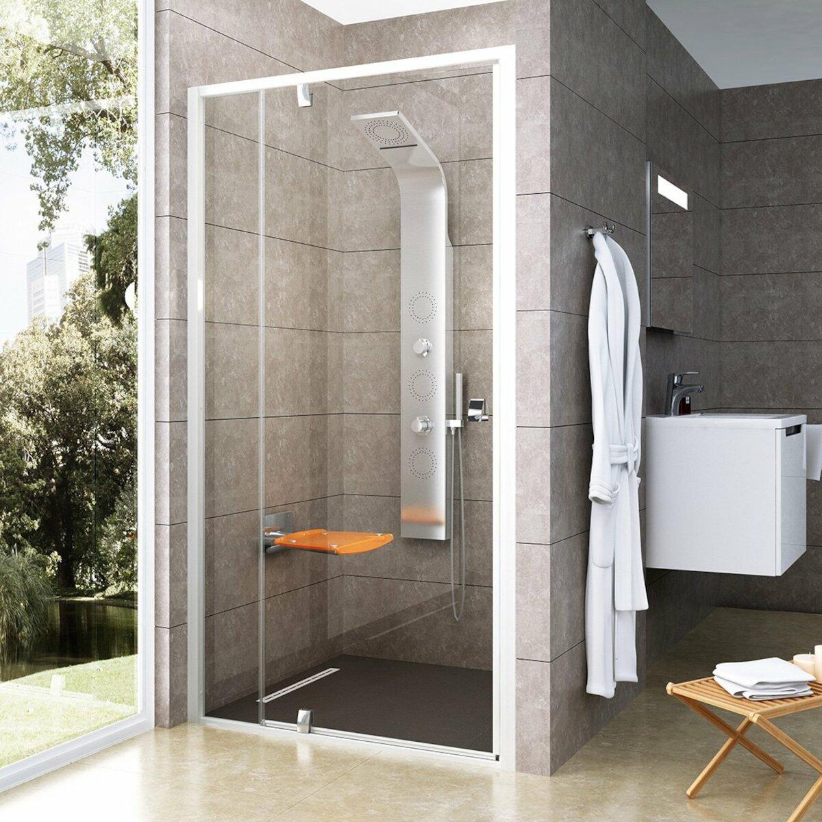 Sprchové dvere 100x190 cm Ravak Pivot biela 03GA0100Z1
