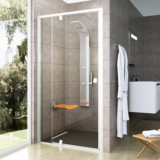 Sprchové dvere 100x190 cm Ravak Pivot biela 03GA0101Z1