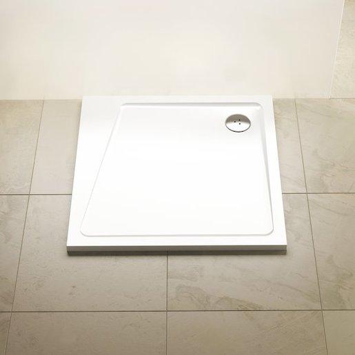 Sprchová vanička štvorcová Ravak 10° 90x90 cm liaty mramor XA057701010