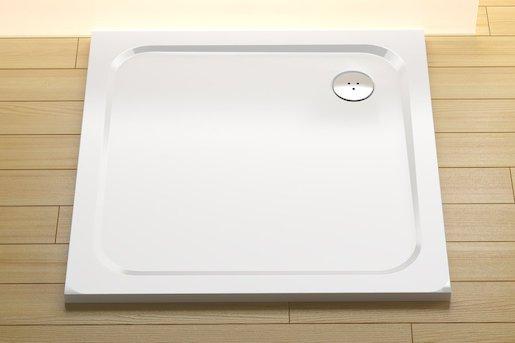 Sprchová vanička štvorcová Ravak Chrome 90x90 cm liaty mramor XA047701010