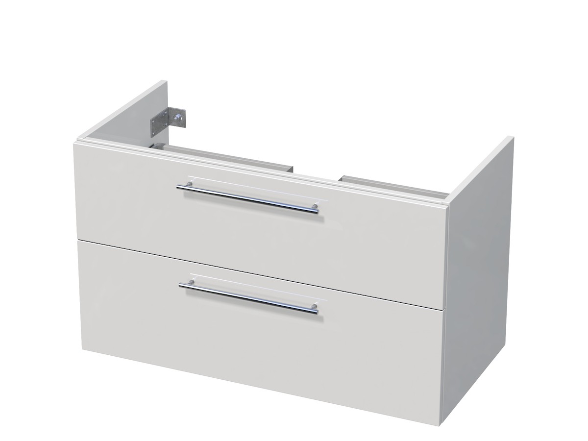 Kúpeľňová skrinka pod umývadlo Naturel Ratio 95,5x56x37 cm biela lesk PN1002Z56.9016G