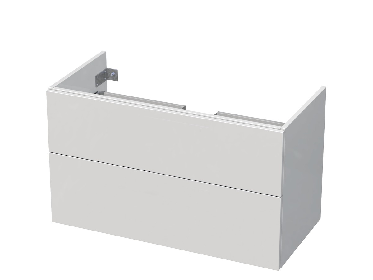 Kúpeľňová skrinka pod umývadlo Naturel Ratio 95,5x56x37 cm biela lesk PN1002Z56PU.9016G