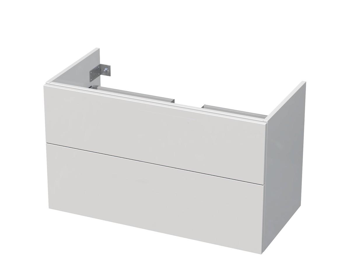Kúpeľňová skrinka pod umývadlo Naturel Ratio 95,5x56x37 cm biela mat PN1002Z56PU.9016M