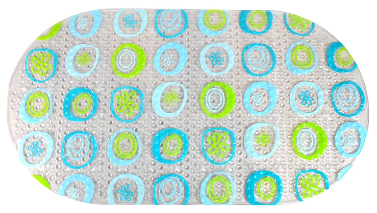 Protišmyková podložka do kúpeľne Multi 68x38 cm modrozelená PRED209