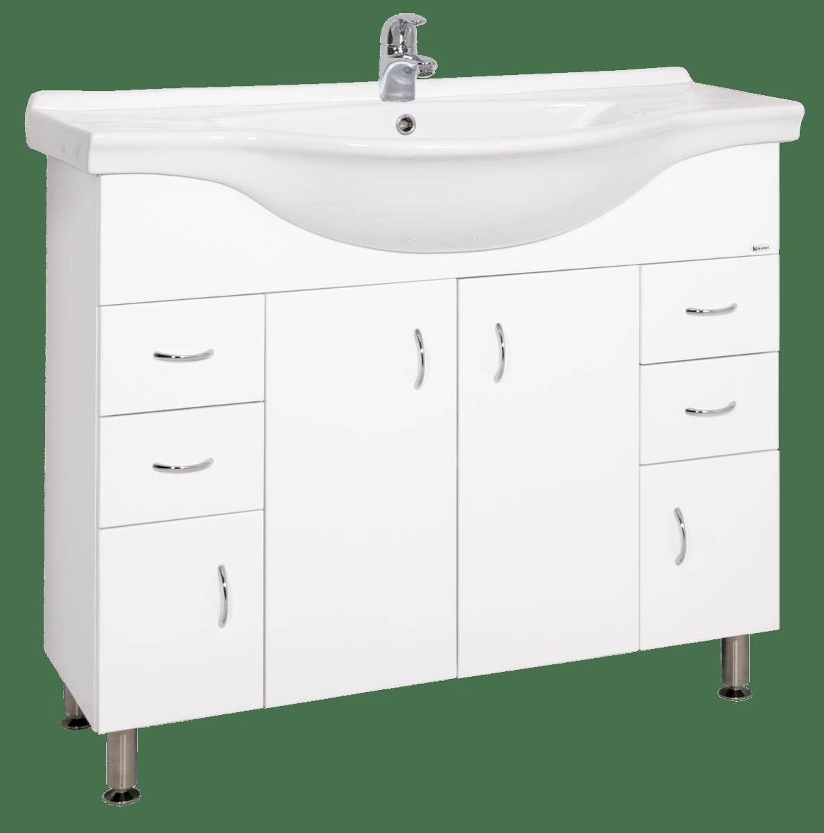 Kúpeľňová skrinka s umývadlom Keramia Pro 102x55 cm biela PRO100DV