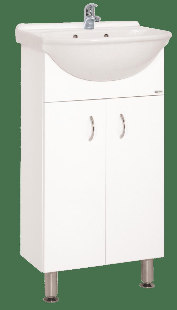 Kúpeľňová skrinka s umývadlom Keramia Pro 43x34,5 cm biela PRO45DV