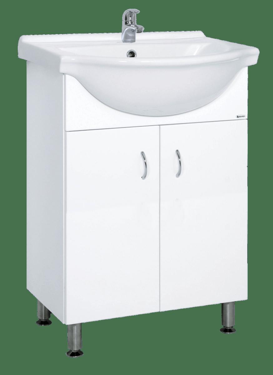 Kúpeľňová skrinka s umývadlom Multi Pro 55,5x42,4 cm biela PRO55NOVA