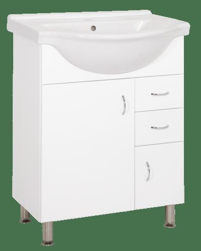 Kúpeľňová skrinka s umývadlom Keramia Pro 60x50 cm biela PRO60DV